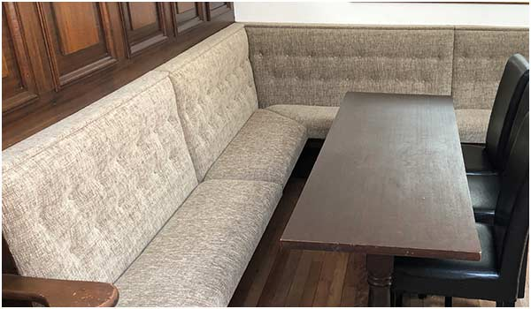 Commercial fitted seating in a pub