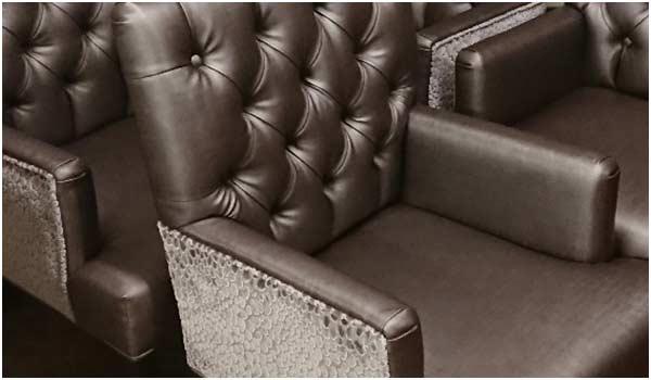 Bar chair upholstery
